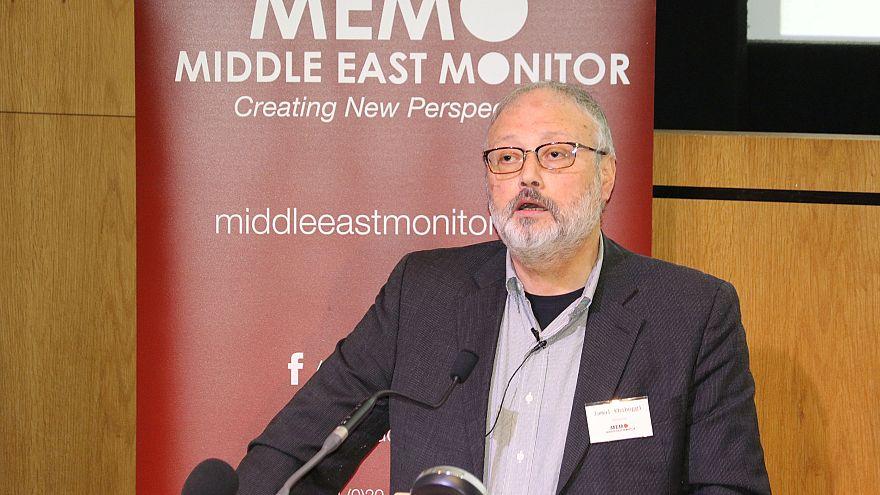 Image: Saudi dissident Jamal Khashoggi speaks at an event hosted by Middle