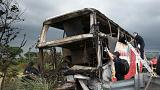 Two dozen Chinese tourists killed in Taiwan coach crash