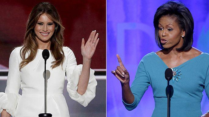 First Lady adayı Melania Trump, Michelle Obama'nın izinde