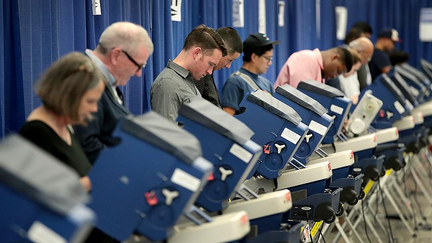 Residents cast ballots for the November 8 election at an early voting site