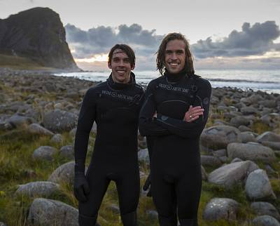 The Lofoten Masters tournament — the world's only Arctic surf competition — draws daredevils from around the world, including American brothers William and Rolf Hellem-Brusso.