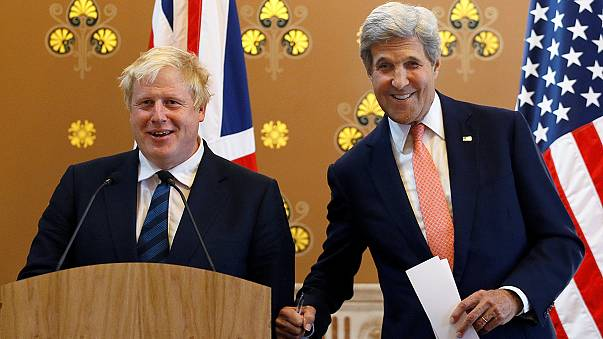 No apologies: Boris Johnson holds first press conference with Kerry