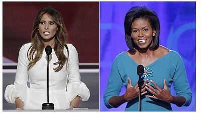 L'épouse de Donald Trump, accusée d'avoir plagié Michelle Obama
