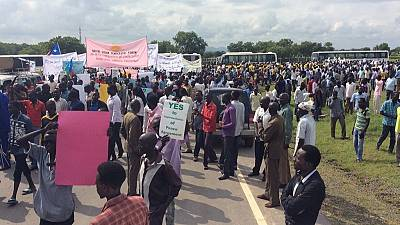 Protest in Juba against planned deployment of AU forces to South Sudan