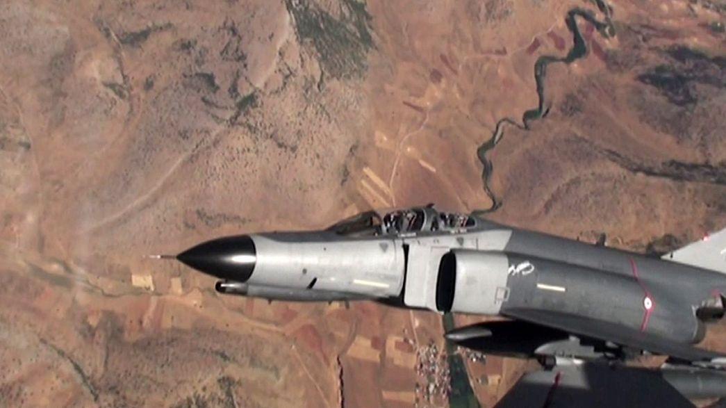 Турецкие ВВС снова нанесли удары по позициям РПК на севере Ирака