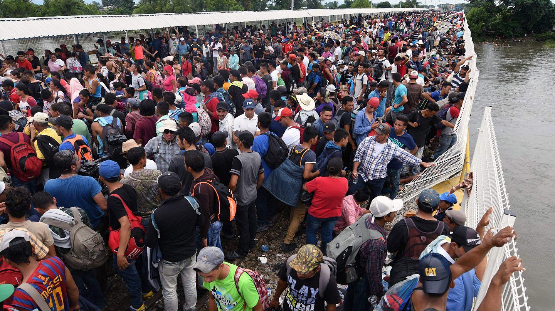 Pompeo accuses migrants in caravan in Mexico of political violence