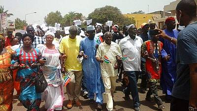 Gambian opposition leader sentenced to three years in prison