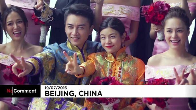 Märchenhochzeit in China: Michelle Chen heiratet Chan Xiao