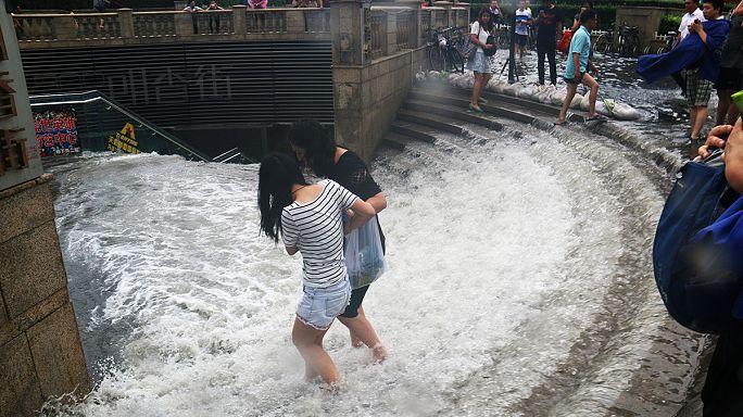 Inundações semeiam o caos no norte e centro da China