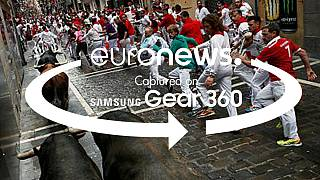 360° video: last hours of Pamplona's San Fermin festival