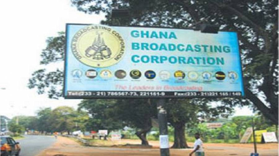 Workers of Ghana's state broadcaster stage protest, threaten