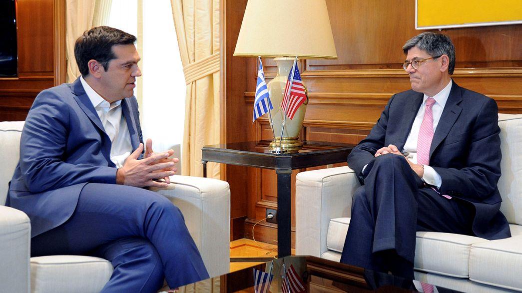 """Amerikan Maliye Bakanı'ndan Yunanistan'a """"istikrar"""" ziyareti"""