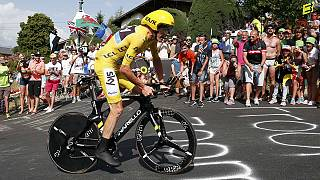 Catch Chris Froome if you can as Sky rider wins stage 18