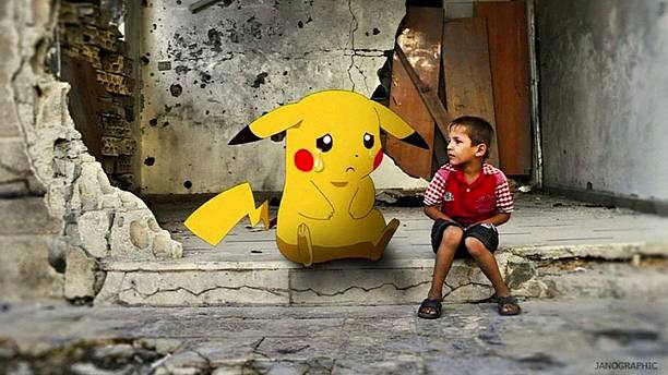 Syrians adopt Pokemon Go to highlight plight of children