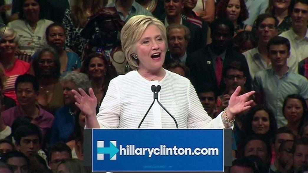 هيلاري كلينتون أول إمرأة تصل إلى الانتخابات الرئاسية