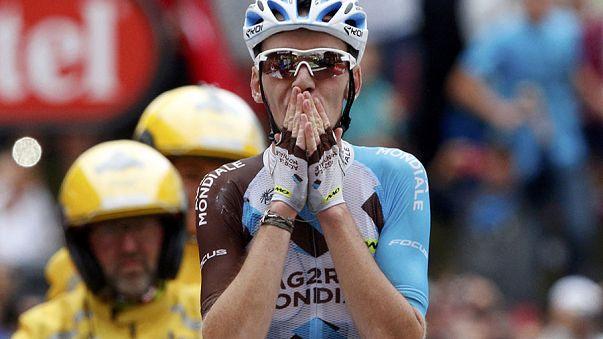 Fransa Bisiklet Turu: Romain Bardet ilk kez zirvede