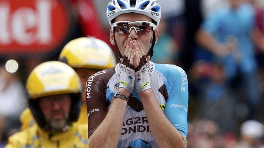 """Фрум закончил 19 этап """"Тур де Франс"""" на велосипеде партнера по команде"""