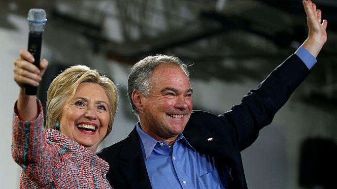 Sérieux, consensuel, hispanophone : Hillary Clinton choisit Tim Kaine comme colistier