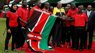 Kenya: Uhuru hands over flag to Rio team