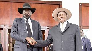 [Photos] Museveni meets Kiir: Regional issues & South Sudan tops the agenda