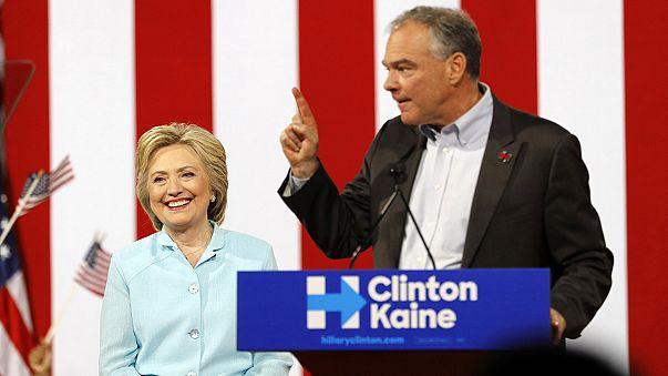Presidenziali Usa: la Clinton presenta il suo vice Tim Kaine