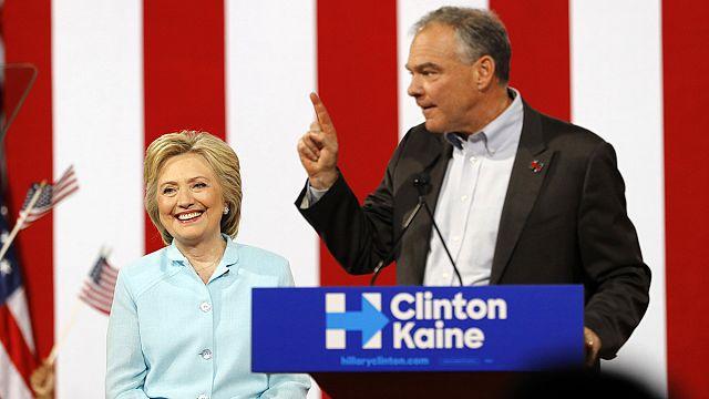 Предвыборная гонка в США: Клинтон и Кейн впервые выступили вместе