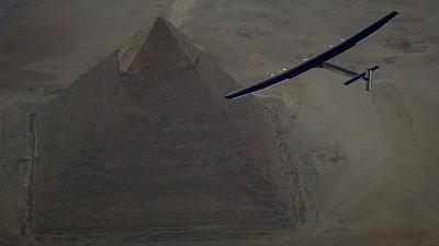 Solar-powered plane takes off on final leg of epic challenge