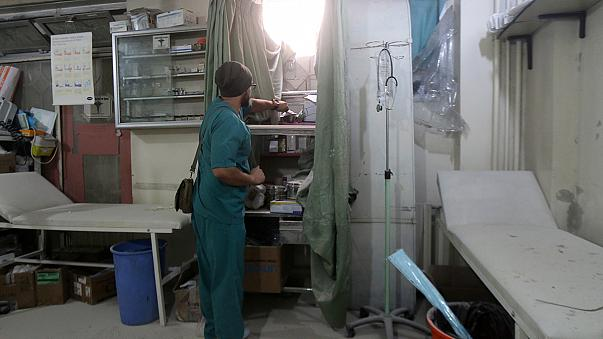 Halep'te 4 hastane ve bir kan bankası vuruldu
