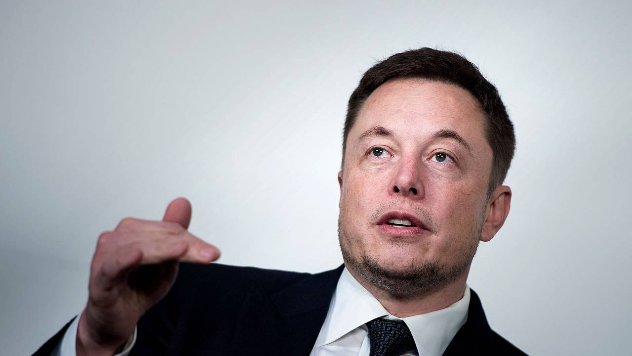 Image: Elon Musk, CEO of SpaceX and Tesla, speaks during the International