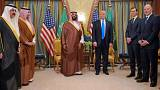 Image: President Donald Trump and Saudi Deputy Crown Prince Mohammad bin Sa