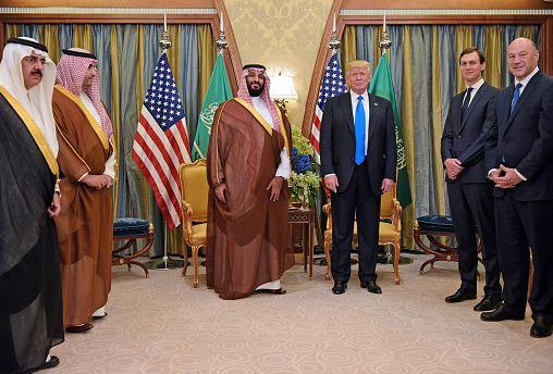 Image: President Donald Trump and Saudi Deputy Crown Prince Mohammad bin Sa