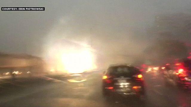 Чикаго: молния попала в станцию метро