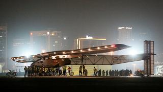"""Completing a dream"" Solar Impulse lands after fuel-free round-world-trip"