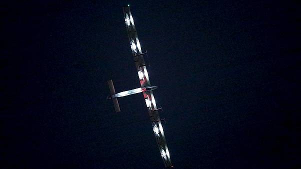 Solar-powered plane makes aviation history