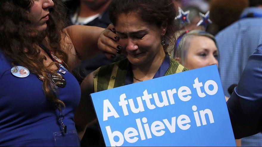 Etats-Unis : à la Convention démocrate, les partisans de Bernie Sanders ne s'avouent pas vaincus
