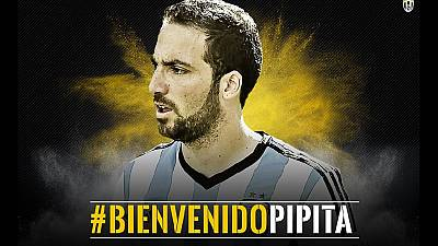 Higuain is third most expensive player after £75.3m move to Juventus
