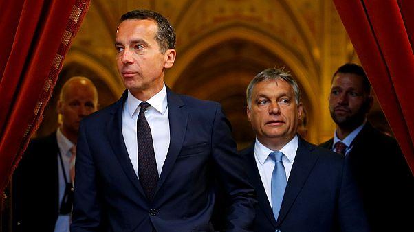 Austria se acerca a Hungría en inmigración, pese a la actitud beligerante de Orbán