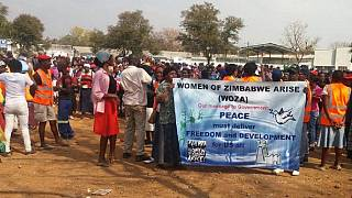 Zimbabwean women march against economic crisis and police brutality