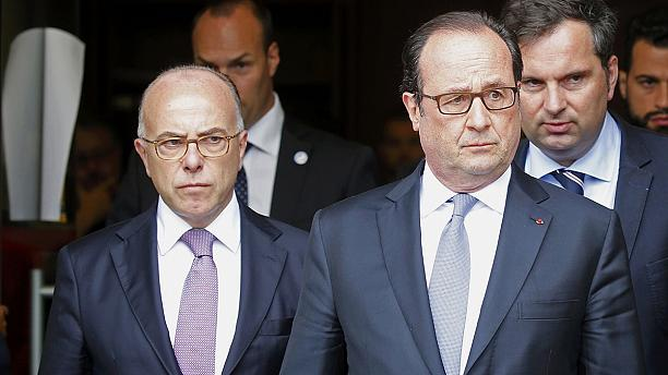 "President Hollande speaks of ""severe Islamist threat"" following priest murder"