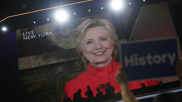 Democrat Hillary Clinton becomes first woman to be nominated for president by major US party