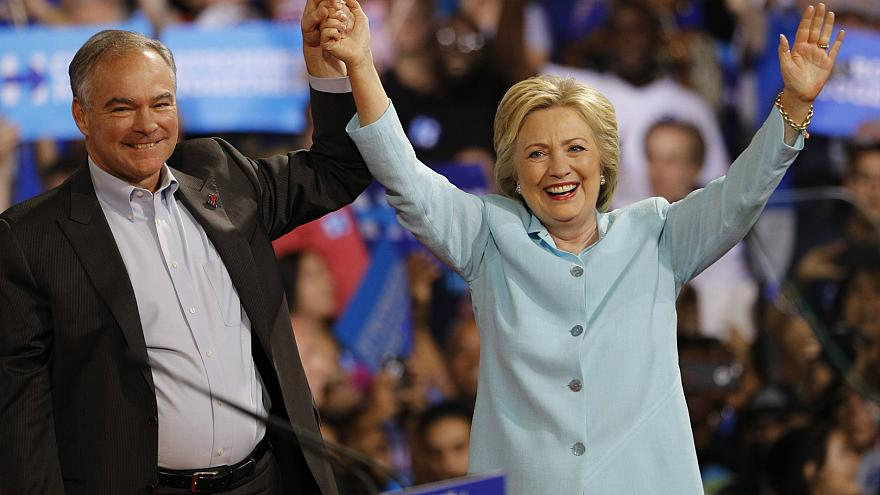 What are the political positions of the Clinton-Kaine ticket?
