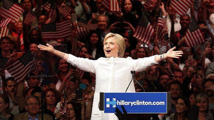 Lehengerlő kortesbeszédek, Hillary Clinton történelmi jelölése