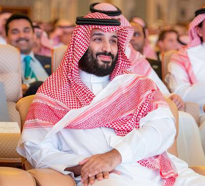 Saudi Crown Prince Mohammed bin Salman attends the investment conference in Riyadh, Saudi Arabia, on Oct. 23, 2018.