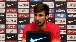 Der FC Barcelona stellt Neuzugang Andre Gomes vor