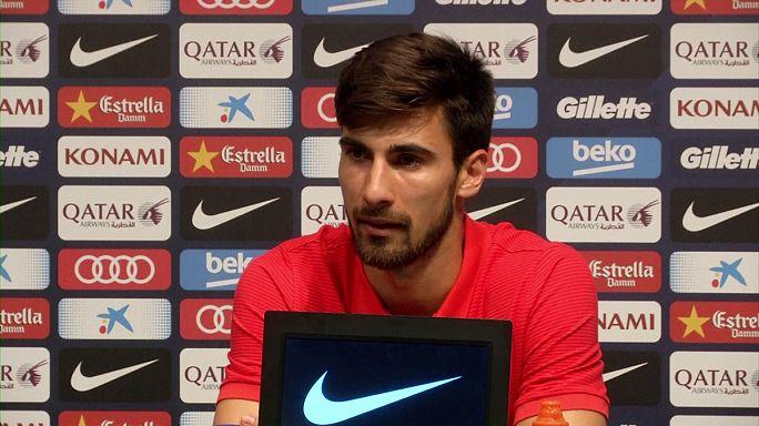 برشلونة يضم اللاعب البرتغالي أندري غوميز