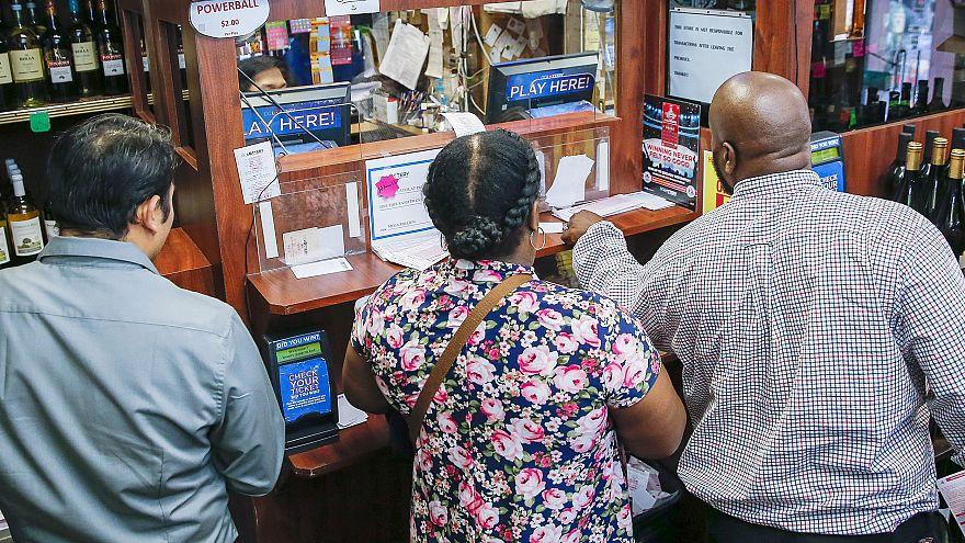 Image: Record Mega Millions lottery jackpot in Washington, DC