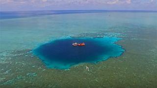 Un trou bleu de 300 mètres de profondeur découvert en mer de Chine
