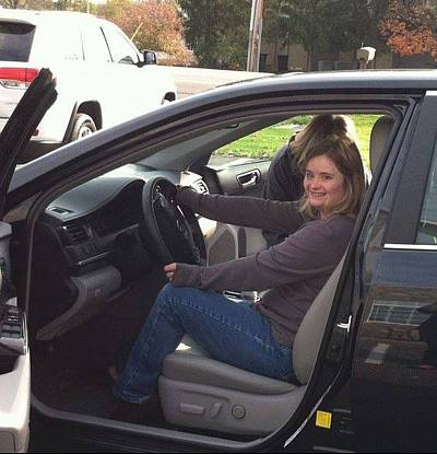 While it took Kayla McKeon five times to pass her driving test, she never gave up.