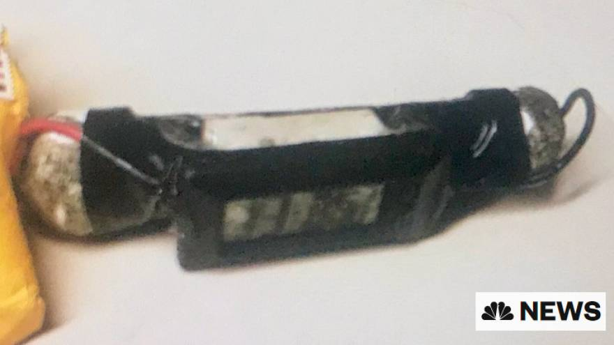 IMAGE: One of the suspected explosive devices
