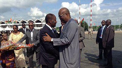 Côte d'Ivoire: le président burkinabé à Yamoussoukro pour sa première visite officielle